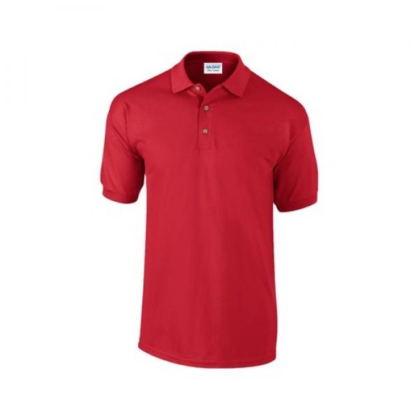 Ultra Cotton galléros piqué póló, fekete, XL