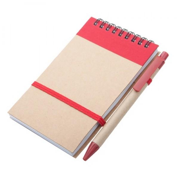 Ecocard jegyzetfüzet, piros