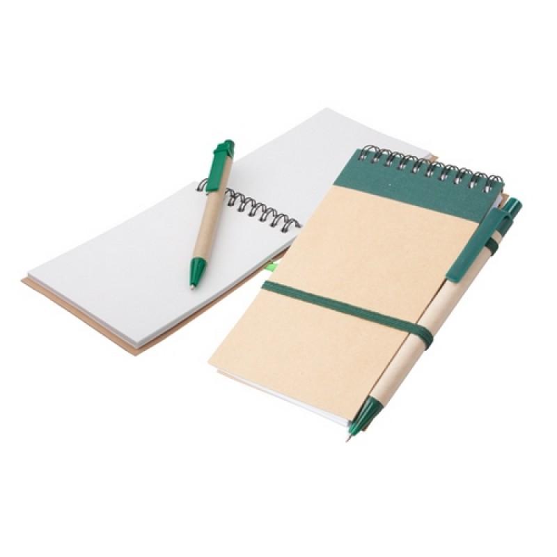 Ecocard jegyzetfüzet, zöld