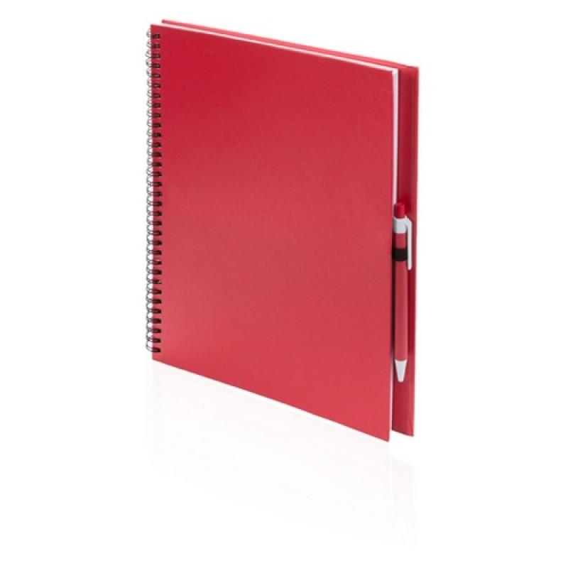 Tecnar jegyzetfüzet, piros