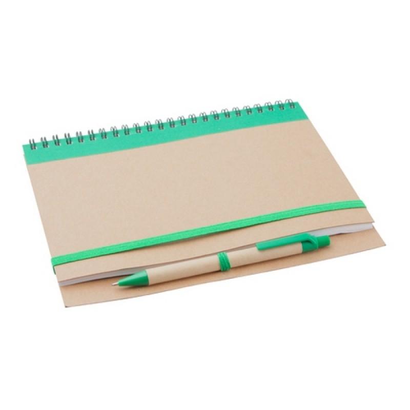 Tunel jegyzetfüzet, zöld