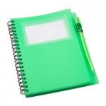 Tagged jegyzetfüzet, zöld