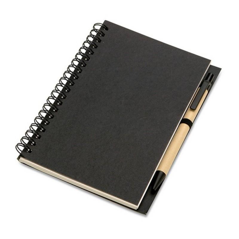 BLOQUERO Jegyzetfüzet és toll , fekete