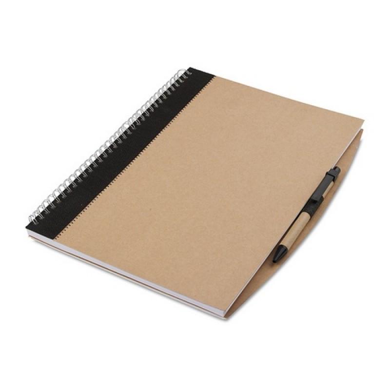 PAPIROS A4-es füzet tollal , fekete