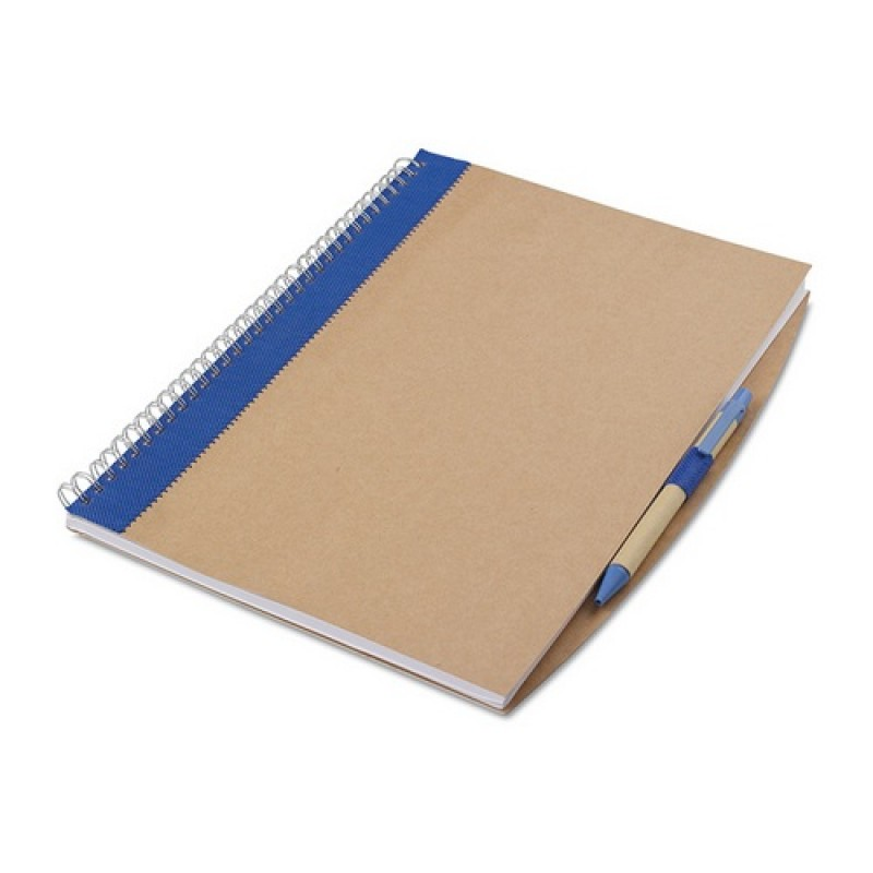 PAPIROS A4-es füzet tollal , kék
