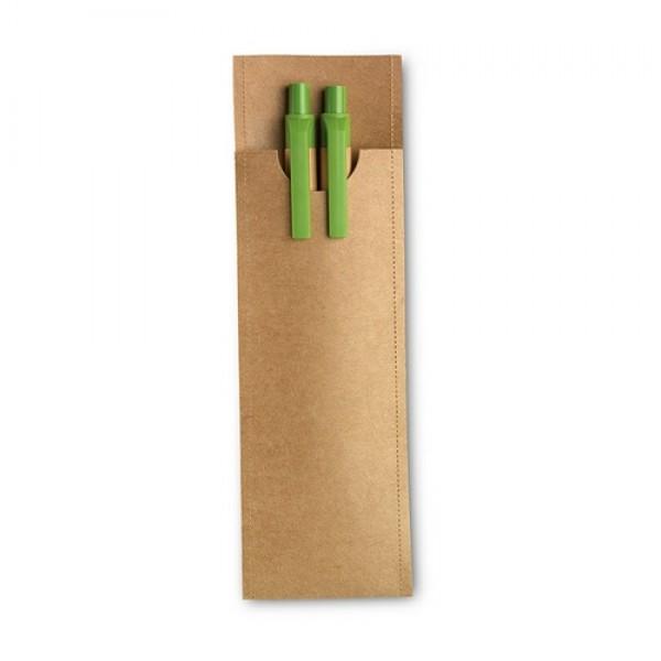 GREENSET Ceruza és toll szett, lime