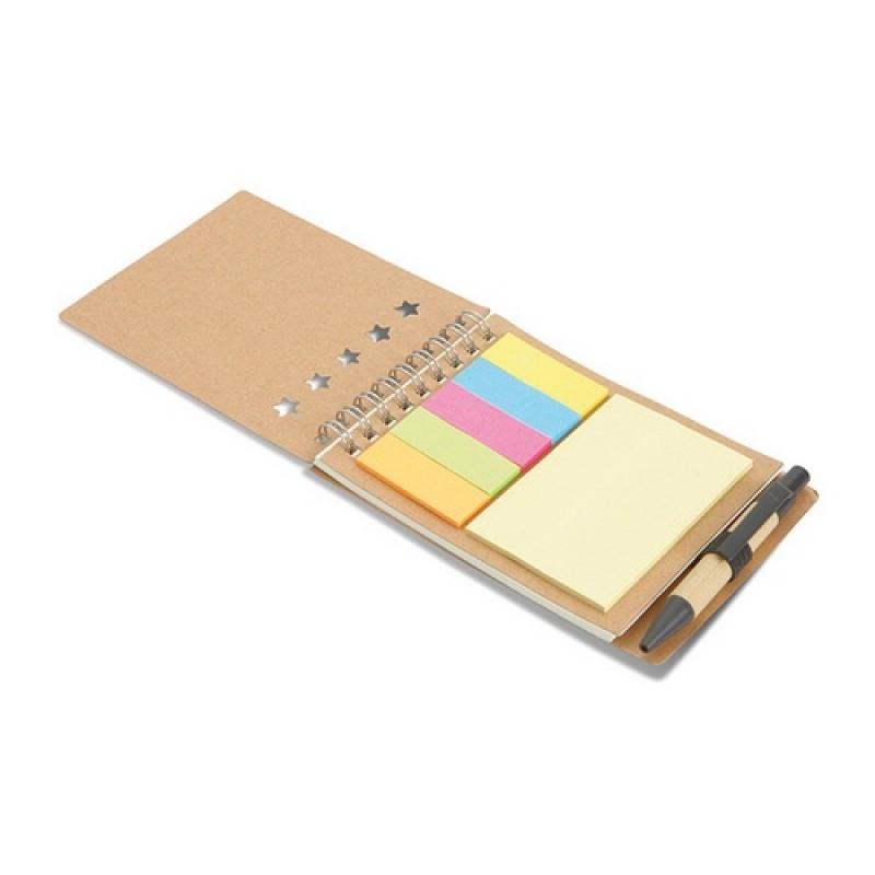 MULTIBOOK Jegyzetfüzet tollal és jelölők, többszínű